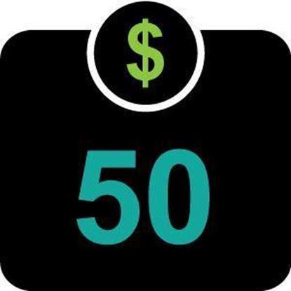 $50 Declining Balance Dollars