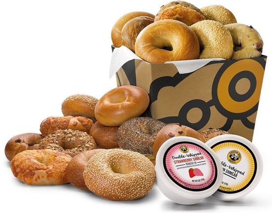 24 Bagels and 4 Tubs Schmear Nosh Box - Einstein Bros. Bagels